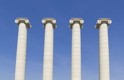 Four white columns, Barcelona Stock Photos