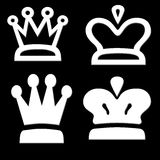 Four White Crown Shapes Royalty Free Stock Images
