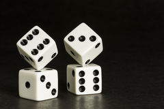 White Dice Formation Stock Photos