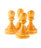 Four white pawns Royalty Free Stock Image