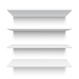 Four white realistic shelves. Vector illustration Royalty Free Stock Images