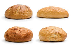 Four whole bread Stock Images
