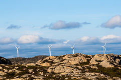 Four wind turbines Royalty Free Stock Image
