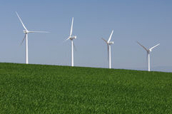 Four windmills Stock Image