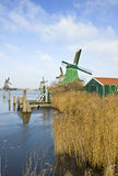 Four windmills in the Zaanse Schans Stock Images