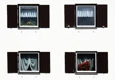 Four windows Stock Photography