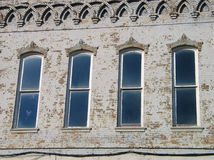 Four Windows. A building in downtown McKinney, Texas royalty free stock photo