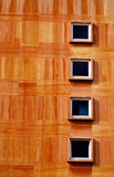 Four windows. Wall with four windows Royalty Free Stock Photo