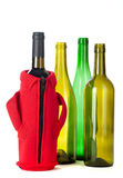 Four wine bottles Stock Image