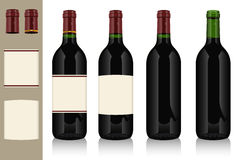 Four wine bottles. This illustration is saved in EPS10 with color space in RGB Stock Photography