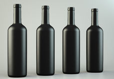Four wine bottles Royalty Free Stock Photos