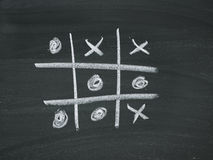 Four wins blackboard chalk Royalty Free Stock Image