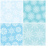 Four winter seamless backgrounds Royalty Free Stock Photo