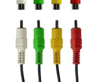 Four wires. Four colour isolated wires on white background Royalty Free Stock Image