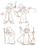 Four wizards Stock Photos