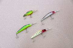 Four wobbler for fishing Royalty Free Stock Images