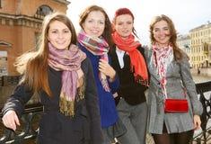 Four women outddoor Royalty Free Stock Photo