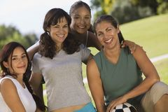 Four women in park Royalty Free Stock Image