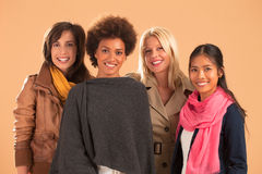 Four Women Smiling Royalty Free Stock Photography