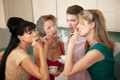 Four Women Smoking Royalty Free Stock Photo