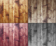 Four wood backgrounds Stock Photo