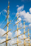 Four Wood Masts Royalty Free Stock Photo