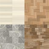 Four wood patterns Stock Photos