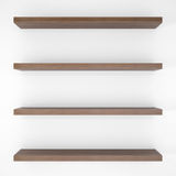 Four wood shelfs Stock Photo