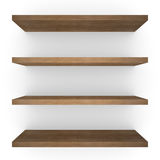 Four wood shelfs Royalty Free Stock Photo