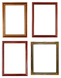Four wooden frame on white Stock Photography