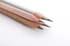 Four wooden pencils Stock Photography