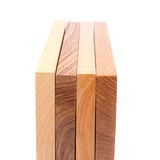 Four wooden plank close-up. Are located on the white background Royalty Free Stock Image
