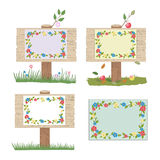 Four wooden signs Royalty Free Stock Photography