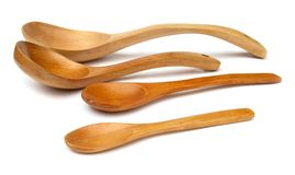 Four wooden spoons Stock Photography