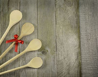 Four wooden spoons Royalty Free Stock Photos