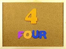 Four word on a corkboard Stock Photography