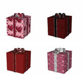 Four Wrapped Gifts for Love Stock Photography