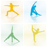 Four x gymnastics studio Stock Photos