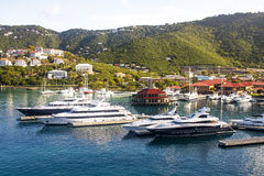 Four Yachts at St Thomas Royalty Free Stock Photo