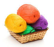 Four yarn skeins Stock Photography