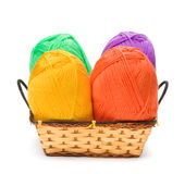 Four yarn skeins Stock Image