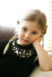 Four year old girl. Four year old blond portrait Royalty Free Stock Photo