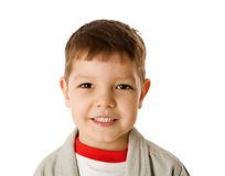 Four years boy. Happy Four years boy portrait isolated Royalty Free Stock Photography