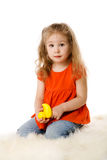 Four years girl Stock Images