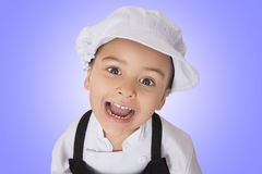 Four years girl chef Royalty Free Stock Photography