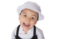 Four years girl chef Stock Photos