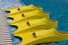 Four yellow fins at side Stock Photo