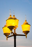 Four yellow lamp Stock Photography
