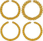 Four yellow wreath Stock Photo