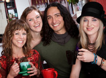 Four young friends stock photos